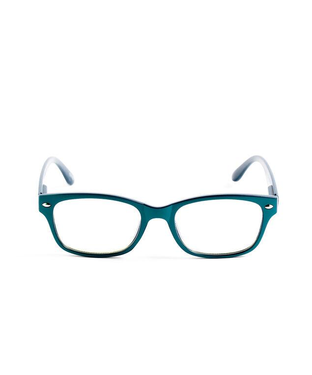 Square Blue Light Reader Glasses, Teal