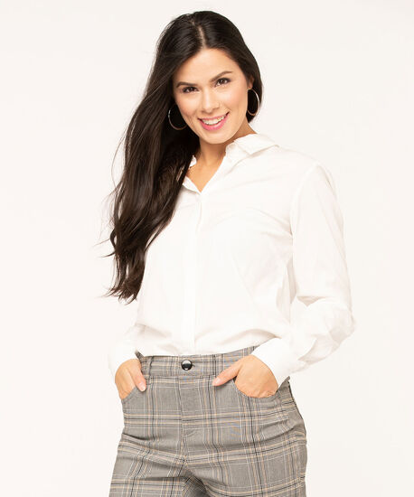 Collared Button Front Blouse, Ivory, hi-res