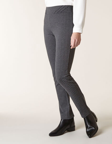Grey Pinstripe Legging, Grey, hi-res