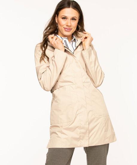 Hooded Windshell Coat, Tan, hi-res