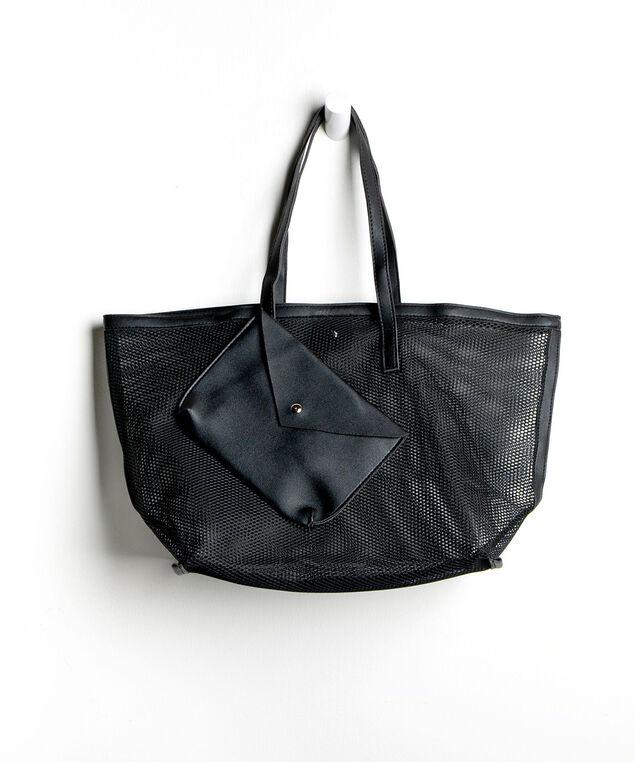 Mesh Tote Bag, Black