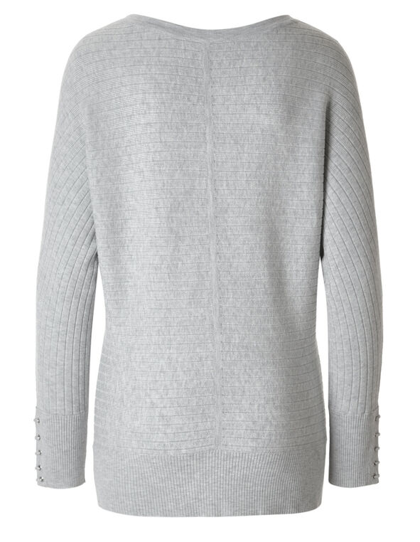 Light Grey Dolman Sweater, Light Grey, hi-res
