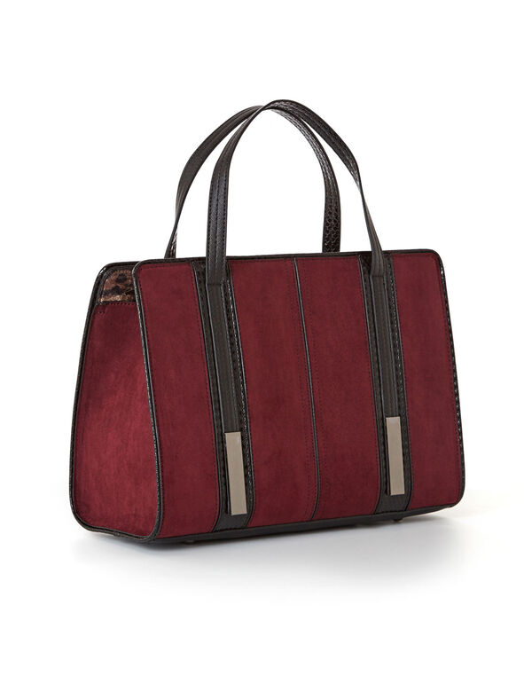 Wine Double Strap Lady Bag, Wine, hi-res
