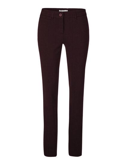 Burgundy Comfort Stretch Pant, Burgundy, hi-res