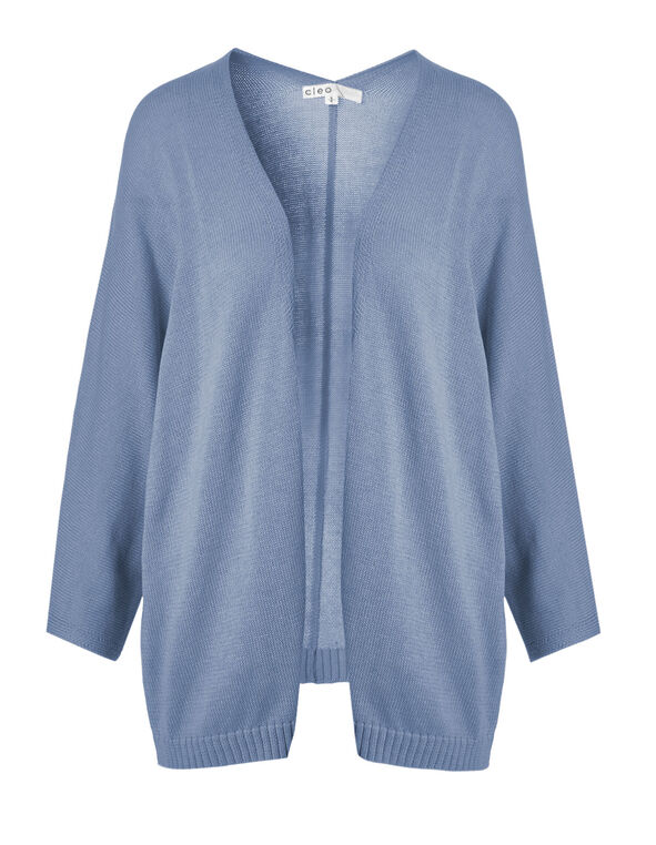 Chambray Dolman Sleeve Cardigan, Chambray Mix, hi-res