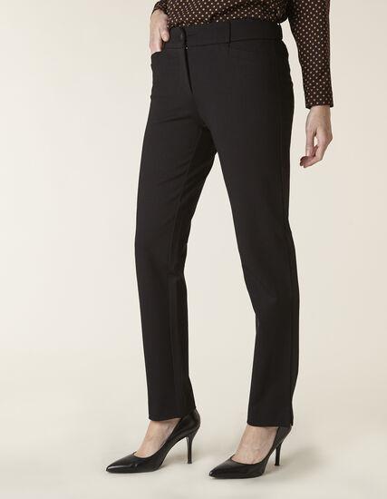 Black Long Knit Slim Leg Pant, Black, hi-res