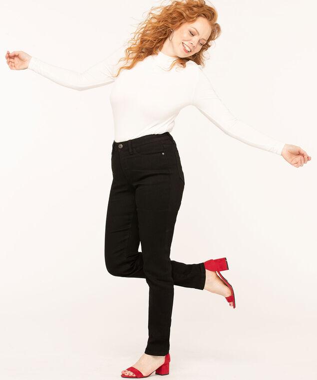 Black Slim Leg Jean, Black