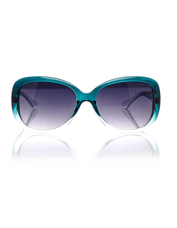 Turquoise Ombre Sunglasses, Turquoise, hi-res