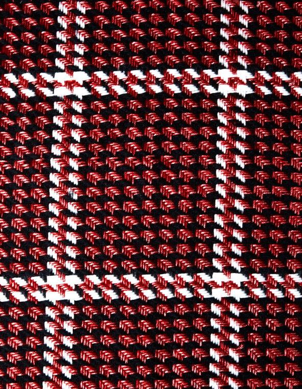 Red Houndstooth Blanket Scarf, Red, hi-res
