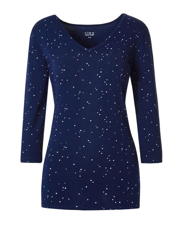 Ink Blue Cotton Pyjama Set, Ink Blue, hi-res