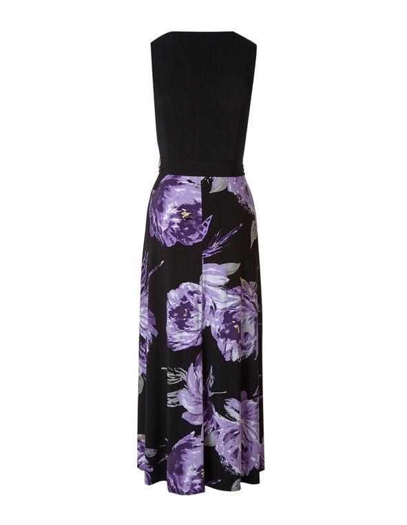 Purple Floral Maxi Dress, Purple, hi-res
