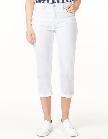 White Capri Jean, White, hi-res
