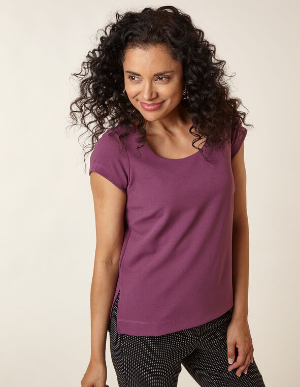 Berry Crepe Top, Purple/Berry, hi-res