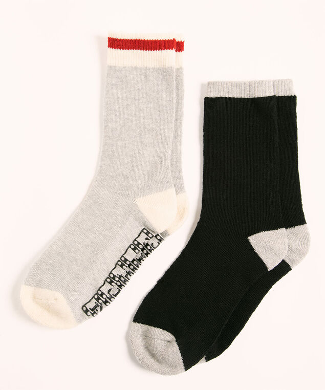 Super Soft Movie Sock 2-Pack, Grey/Black, hi-res