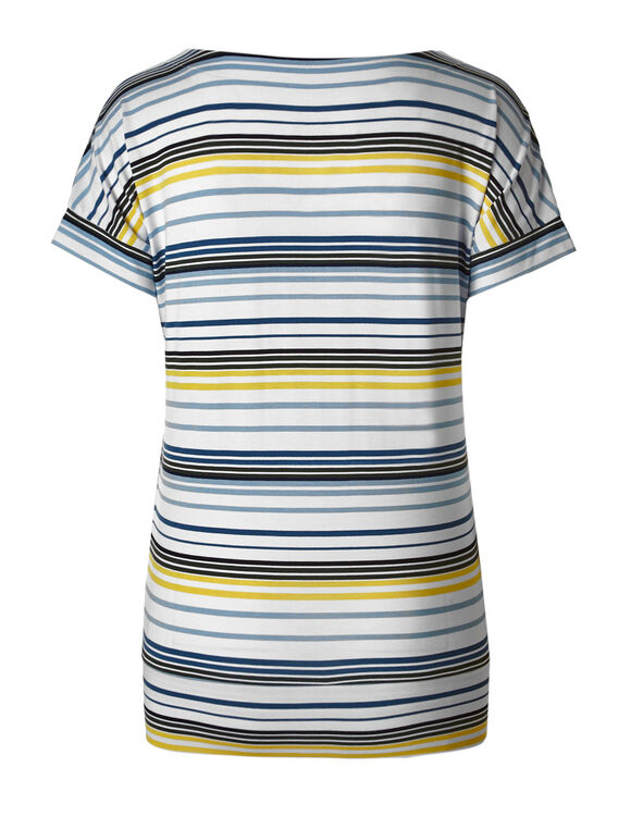 Blue Striped Dolman Tee, White/Blue, hi-res