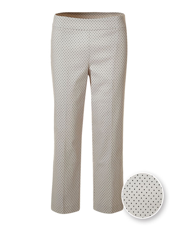 Stone Dotted Crop Pant, Black/Stone, hi-res