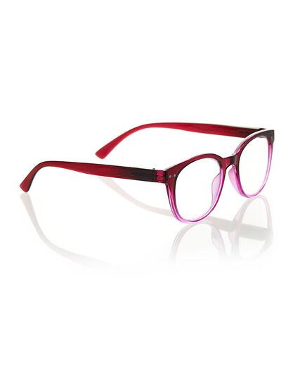 Transparent Pink Ombre Reader, Pink/Red, hi-res
