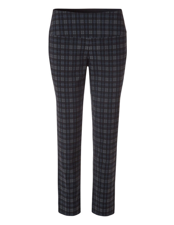Plaid Slimming cleo Signature Pant ®, Black/Navy/Grey, hi-res