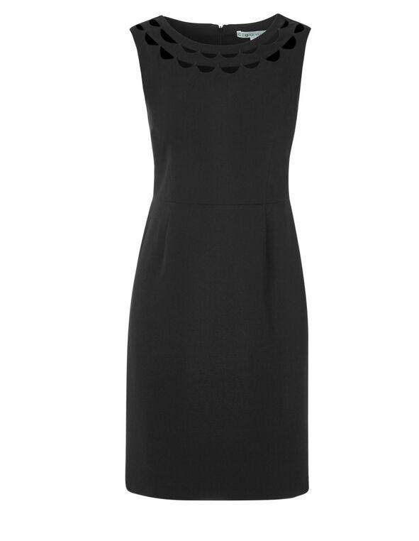 Black Cut Out Sheath Dress, Black, hi-res
