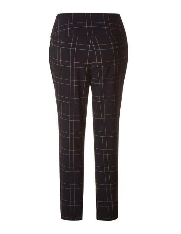 Windowpane Long Slimming  cleo Signature Pant ®, Black, hi-res
