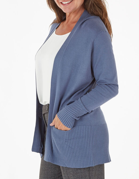 Blue Essential Cardigan, Blue, hi-res