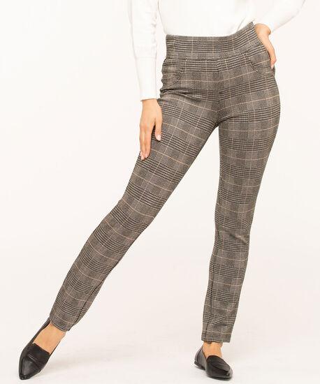 Stud Trim Printed Legging, Black/Brown/Grey, hi-res
