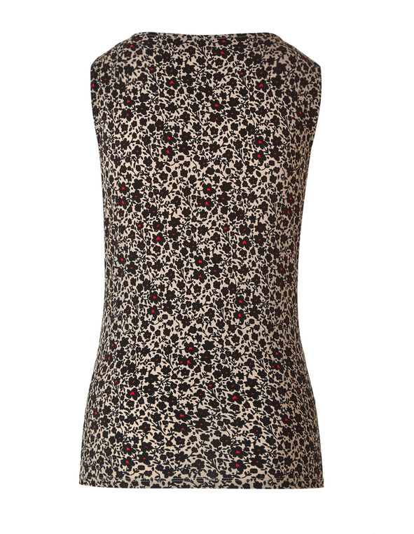 Floral Essential Layering Cami, Brown/Black, hi-res