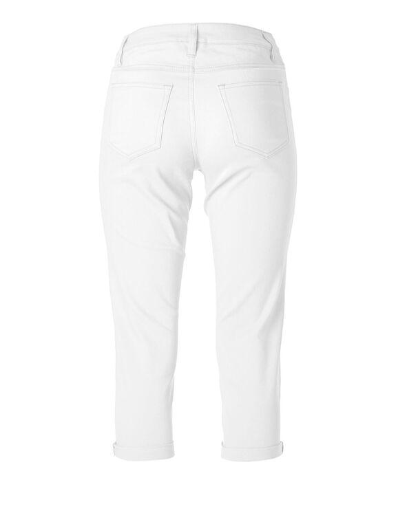 White Denim Capri, White, hi-res