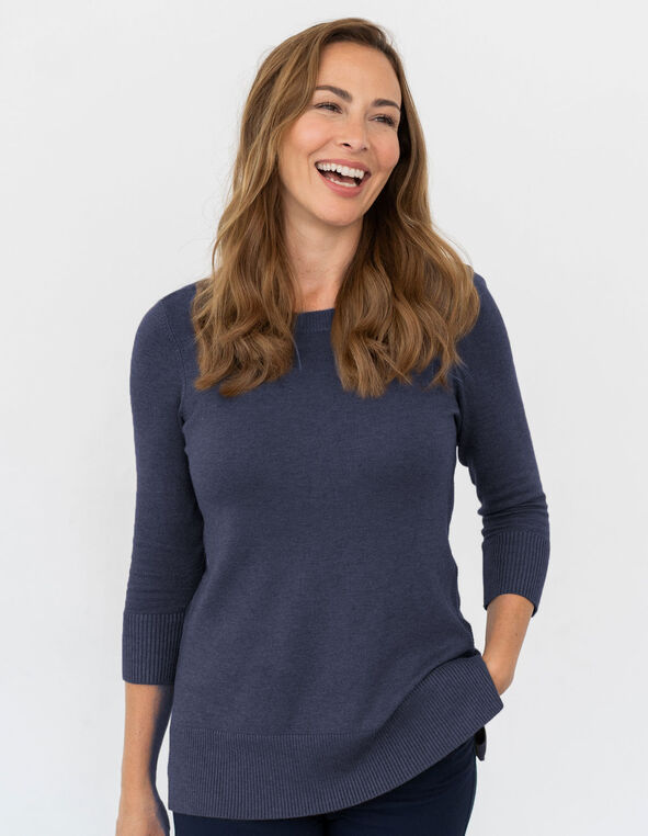 Navy Essential Sweater, Navy, hi-res