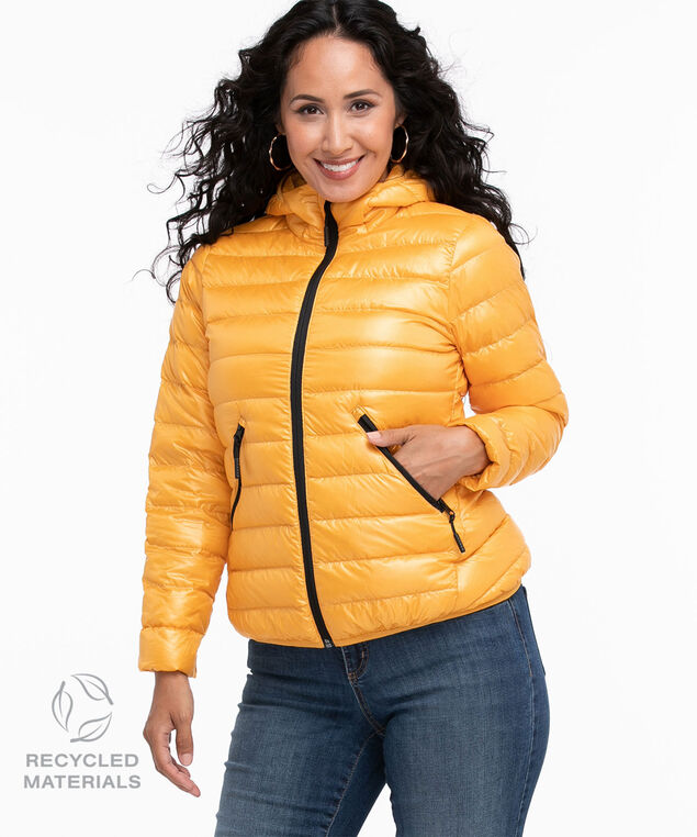 Recycled Pack It Up Down Jacket, Golden Yellow