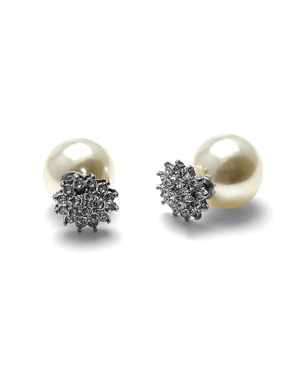 Double Ended Pearl Earring, Pearl, hi-res