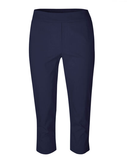 Navy Pull-On Capri Pant, Navy, hi-res