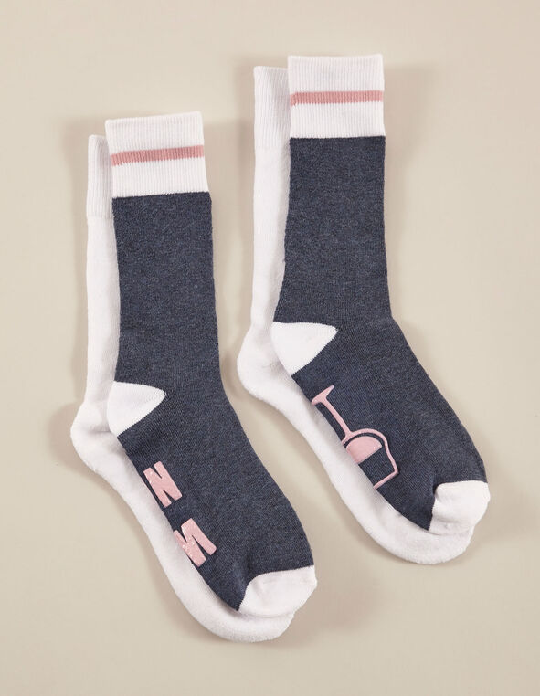 Navy & Grey Sock Pack, Blue/Grey, hi-res