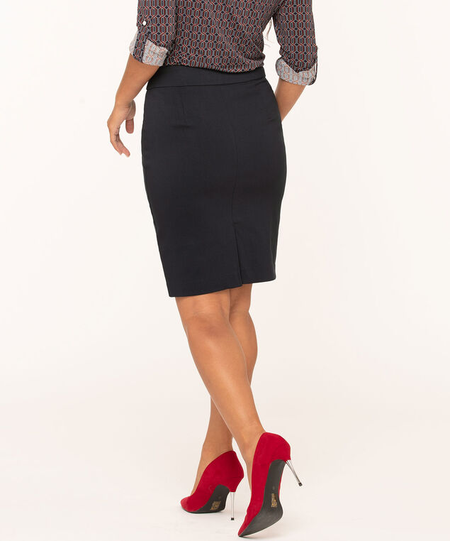 Navy Signature Pull On Skirt, Navy