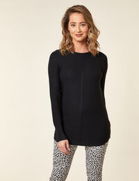 Black Ottoman Stitch Sweater
