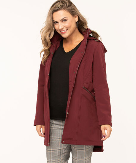 Mulberry Soft Shell Seamed Jacket, Mulberry, hi-res