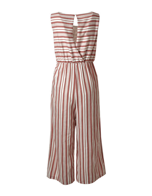 Rose Striped Jumpsuit, Rose/Ivory, hi-res