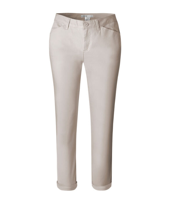 Stone Cotton Chino Ankle Pant, Stone, hi-res