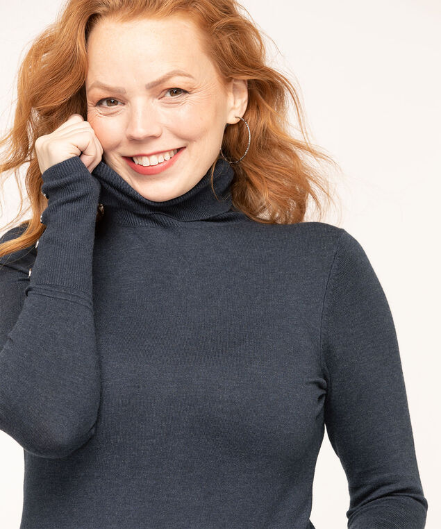 Long Sleeve Essential Turtleneck, Navy, hi-res