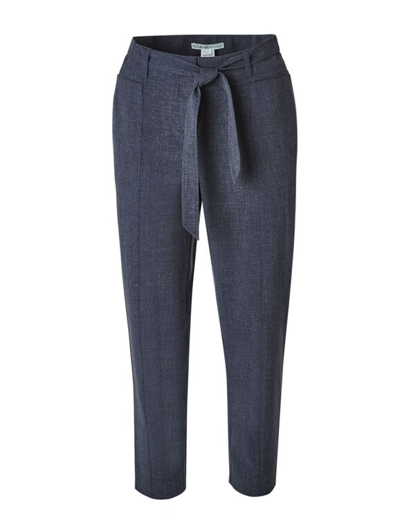 Navy Belted Ankle Pant, Navy, hi-res