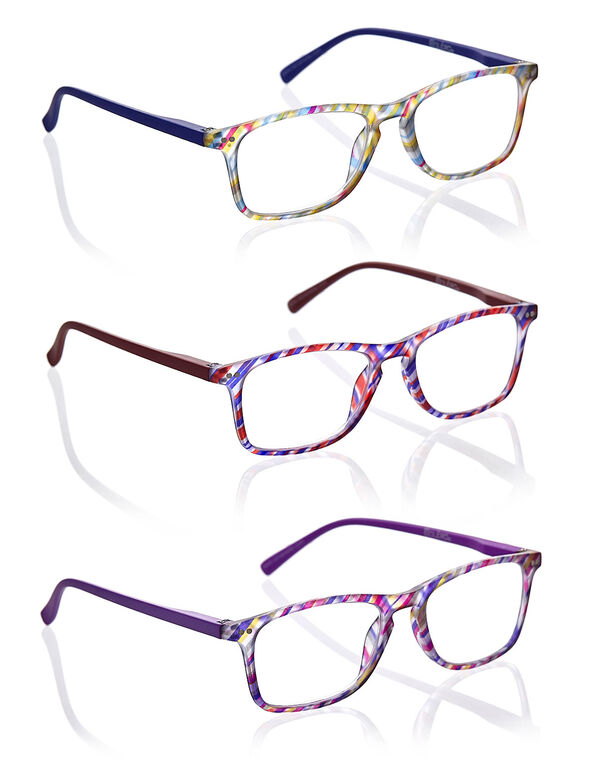 Multicolour Striped Frame 3-Pack Readers, Multi, hi-res
