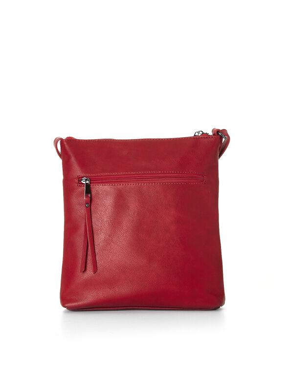 Red Crossbody Bag, Red, hi-res
