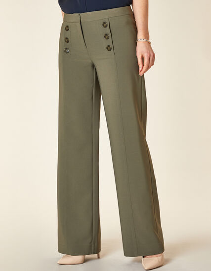 Olive Wide Trouser Pant, Green/Olive, hi-res