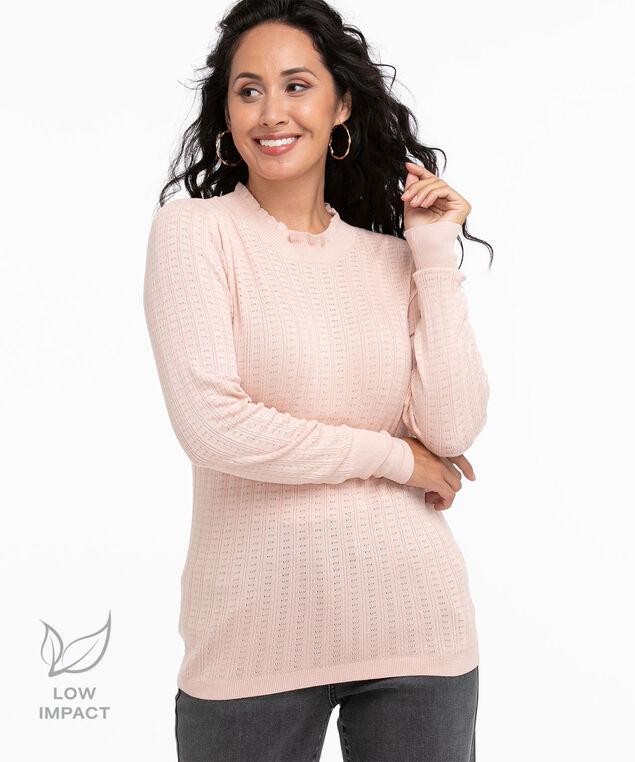 Low Impact Mock Neck Sweater, Pink