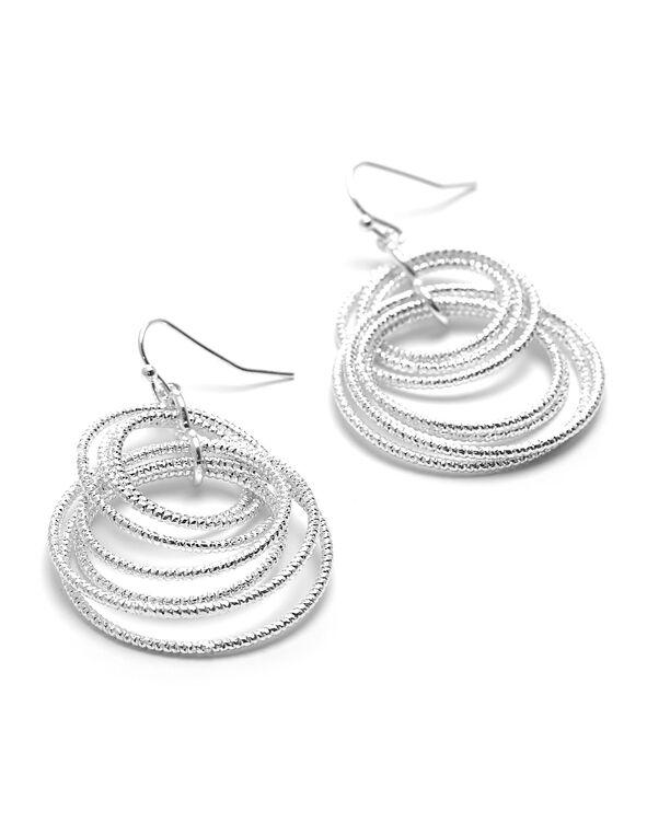 Silver Circular Earring, Silver, hi-res