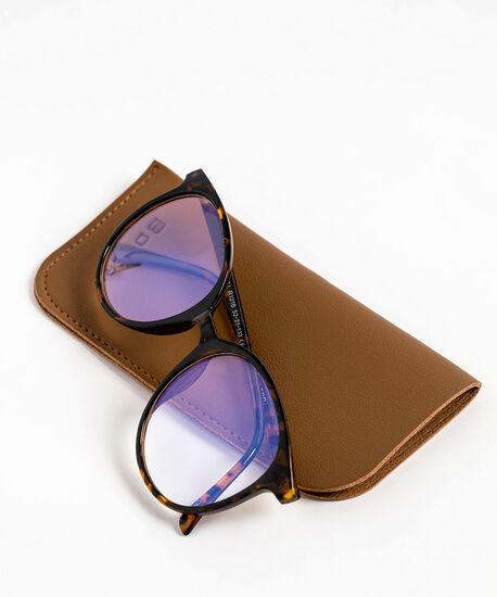 Round Blue Light Reader Glasses, Brown/Black Tortoise, hi-res