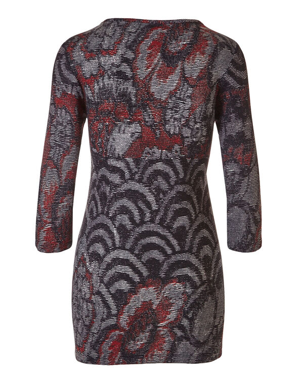 Brick Printed Hacchi Tunic, Brick, hi-res