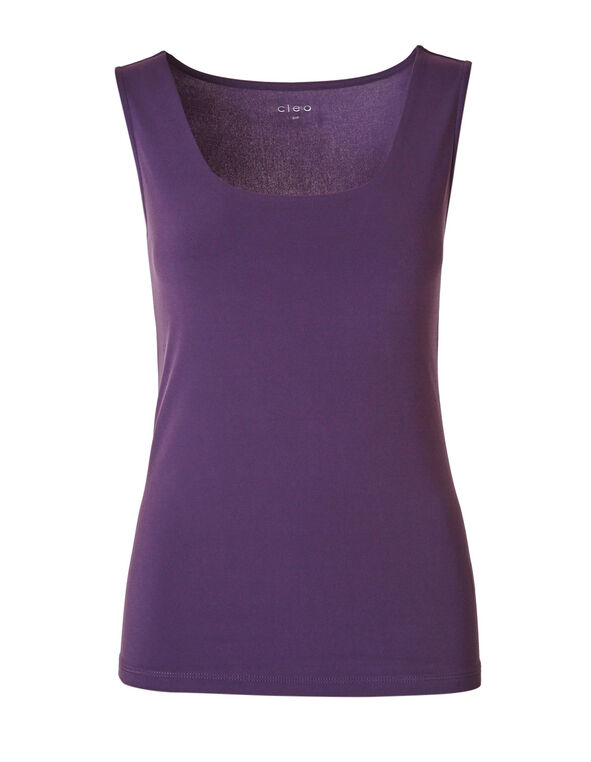 Dark Purple Layering Cami, Dark Purple, hi-res