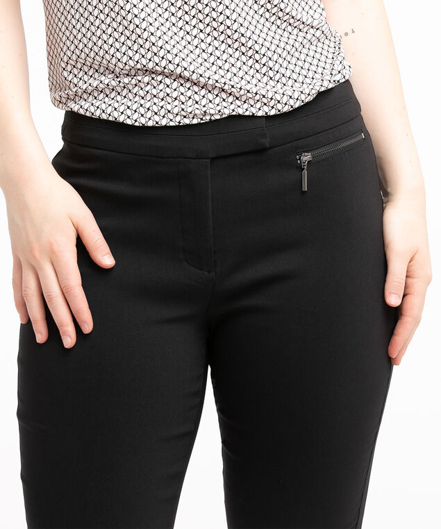 Low Impact Curvy Microtwill Ankle Pant, Black