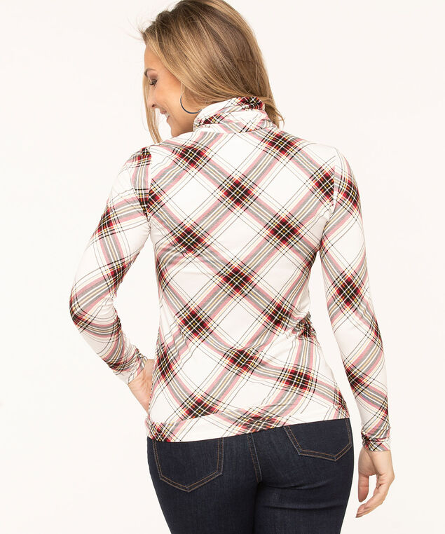 Layering Essential Turtleneck, Ivory Plaid, hi-res